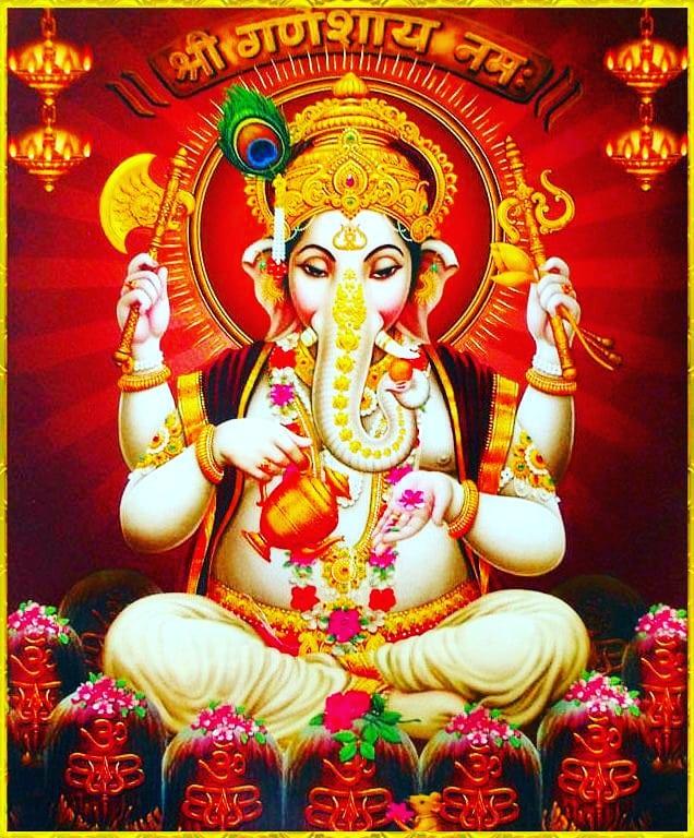 Fresh Photo of Ganpati Decoration