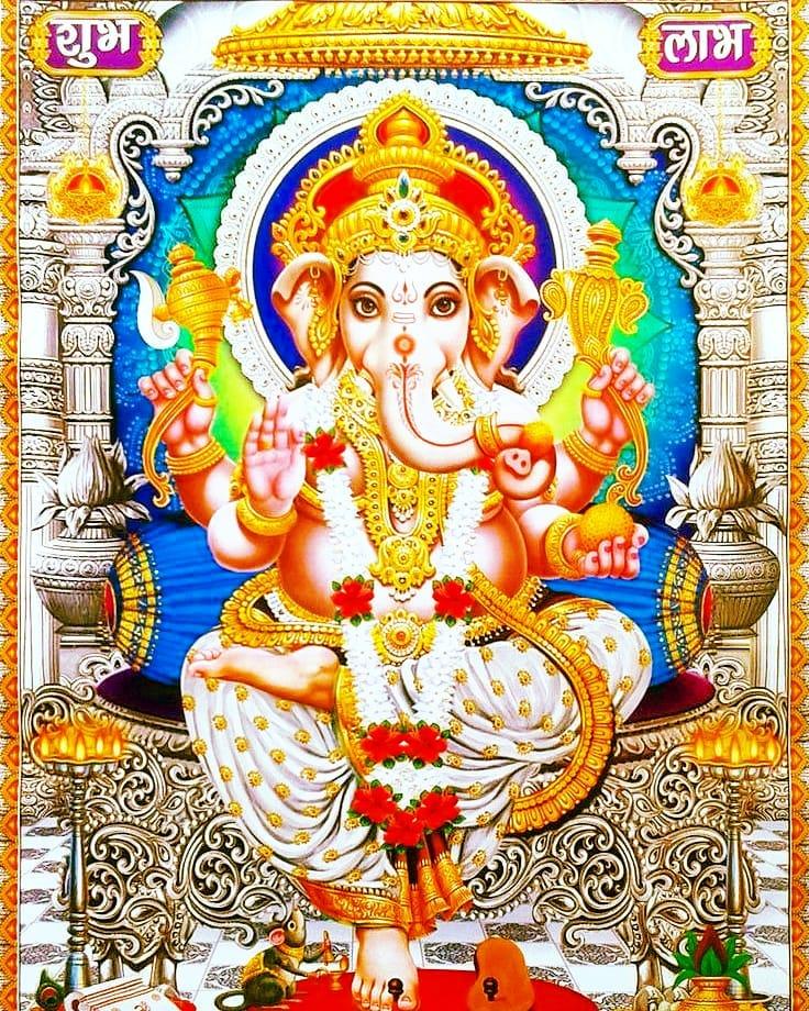Ganpati Bappa Decoration Photo