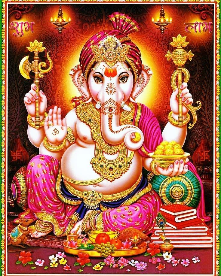Ganpati Decoration Background Photos Download for Whatsapp DP