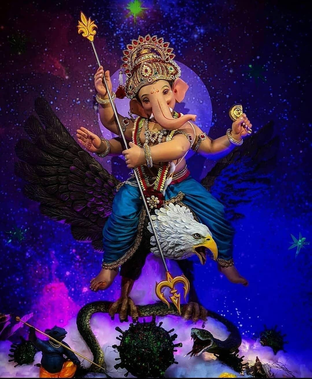 Ganpati Decoration Mandal Images HD Free Download