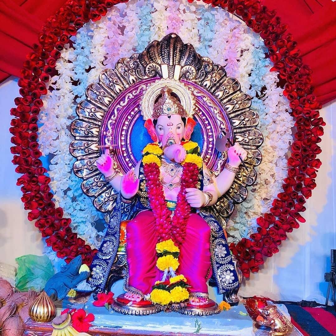 Gharguti Ganpati Decoration Photo