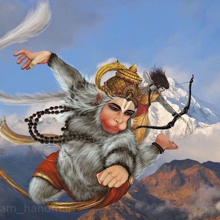 God Hanumantha Flying Images Photo Free Download