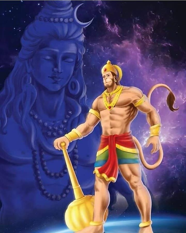 Hanumantha God with Lord Shiva 3d Images & Photo Download