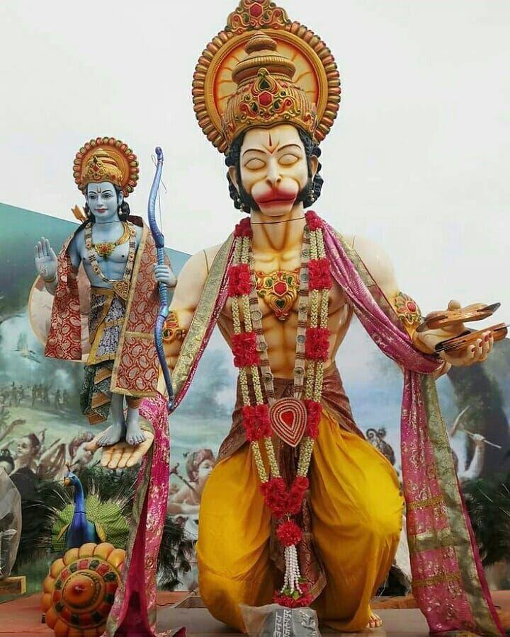 Hanumantha Ji Ki Photo God Ramchandra Ke Sath