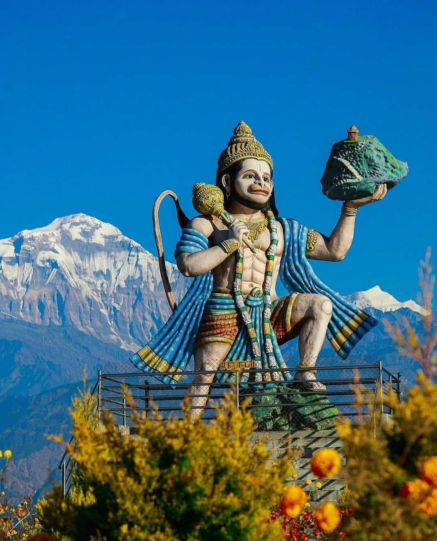 Hanumantha Ji ki Photo Parvat Uthate Hue
