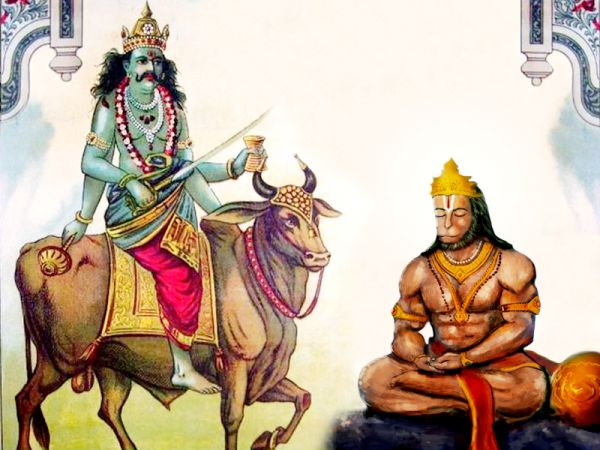 Images of Shani Bhagwan with Hanumani Ji