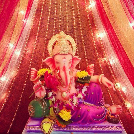Night Ganpati Decoration Images Photos HD Quality Free Download