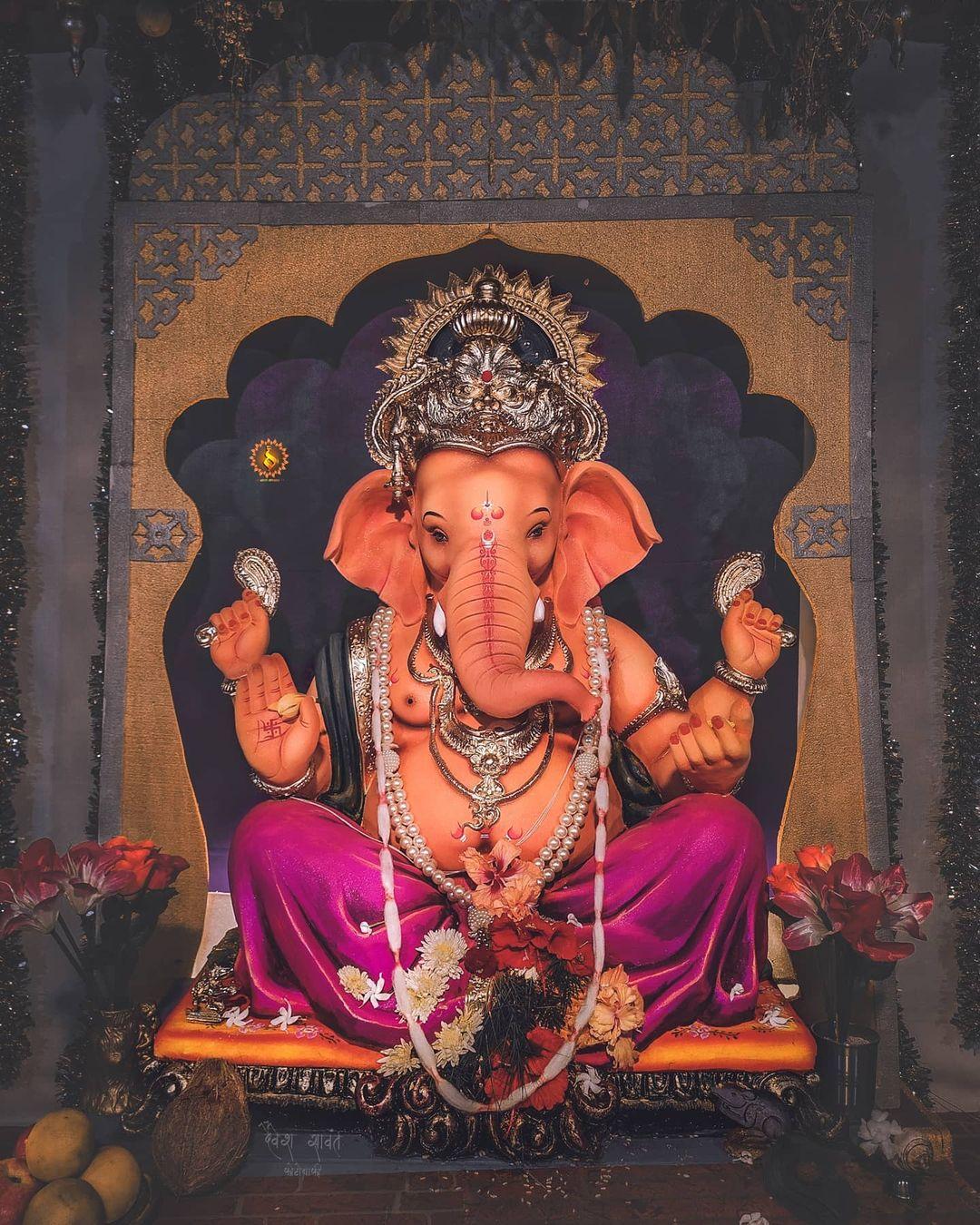 Perfect Ganpati Decoration HD Photo Wallpaper