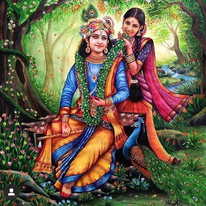 Radha aur Krishna Ki Photo