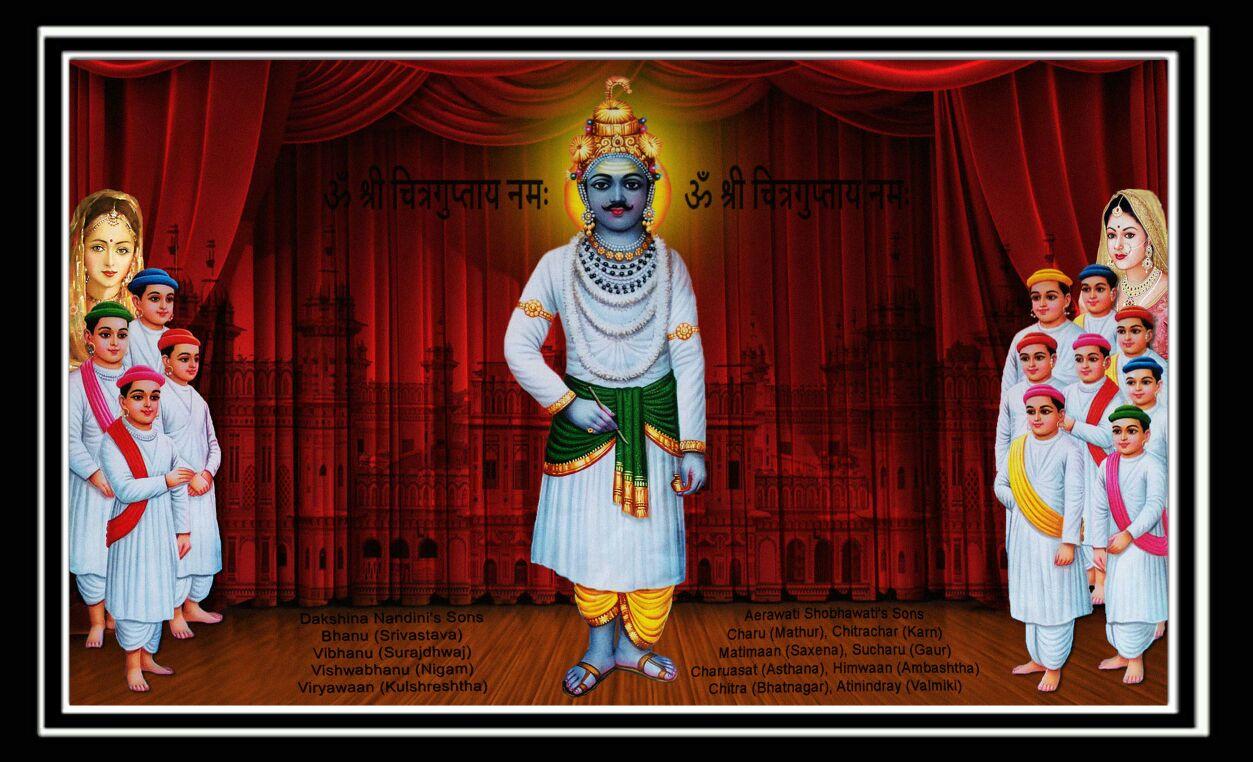 Chitragupta Bhagwan God Wallpaper HD Free Download