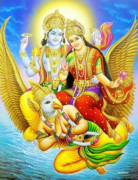 Laxmi Narayan Image On Garuda