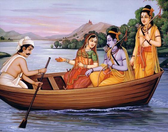 Mata Sita aur Ram Ji Ke Sath Nauka Vihar Karte Lakshman Ji Ka Photo