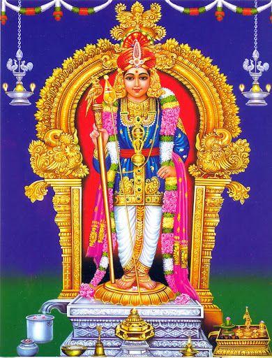 Palani Murugan God Golden Picture