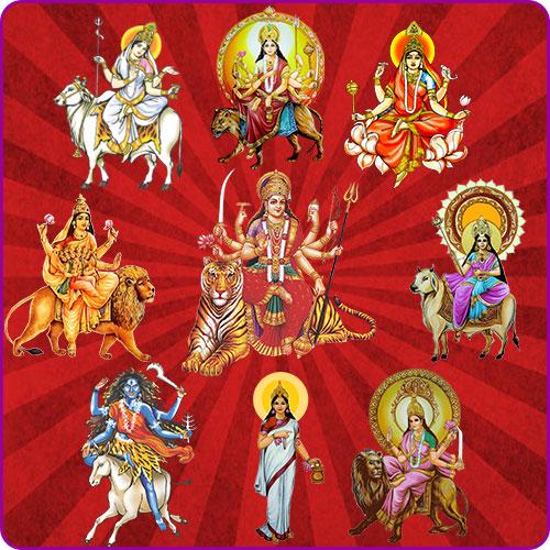 Maa Durga Nav Roop Wallpaper